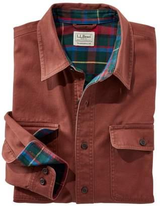 L.L. Bean L.L.Bean Men's Flannel-Lined Hurricane Shirt