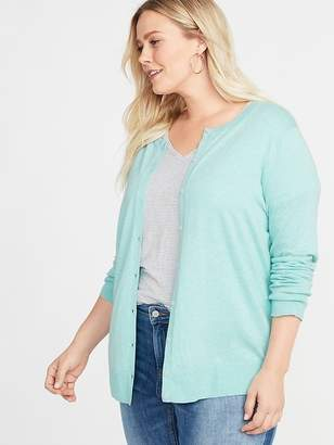 Old Navy Semi-Fitted Crew-Neck Plus-Size Cardi