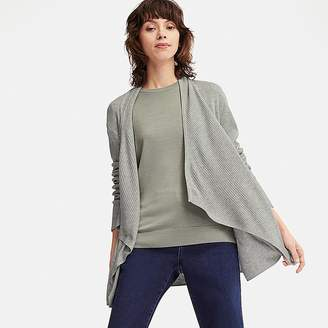 Uniqlo Women's Ribbed Drape Long-sleeve Cardigan