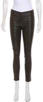 The Row Mid-Rise Leather Leggings