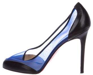 Christian Louboutin Mesh Pointed-Toe Pumps