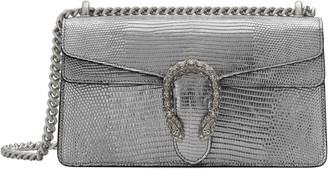 Gucci Small Dionysus Lizard Embossed Metallic Leather Shoulder Bag