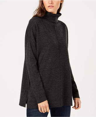 Eileen Fisher Tencel Center-Seam Relaxed Turtleneck Sweater, Created for Macy's