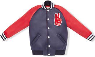 Fendi peace patch bomber jacket