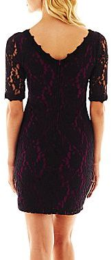 JCPenney 3/4-Sleeve Lace Shift Dress