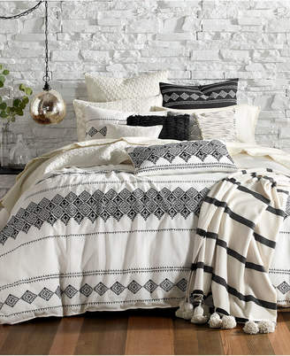 Lucky Brand EMBROIDERED IKAT DUVET SET