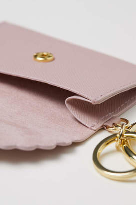 H&M Key Ring with Card Holder - Powder pink - Women