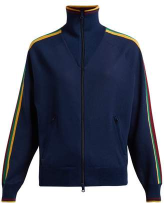Etoile Isabel Marant Darcey Striped Trim Track Top - Womens - Navy