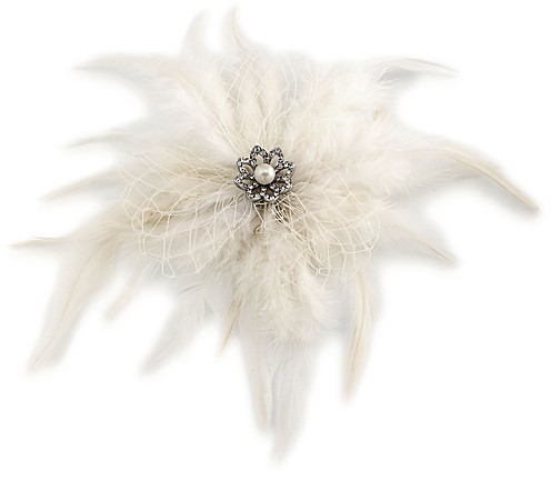 Carolee Carolee Feather Hair Clip