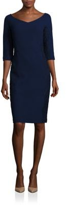 Lafayette 148 New York Lace Embroidery Nouveau Crepe Alexia Wool Dress $798 thestylecure.com