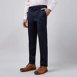 River Island Mens Navy tailored fit suit trousers