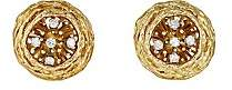 Mahnaz Collection Women's Vintage Nest Earrings-Gold