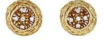 Mahnaz Collection Women's Vintage Nest Earrings - Gold