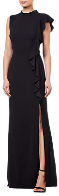 Adrianna Papell Petite Knit Crepe Dress, Black