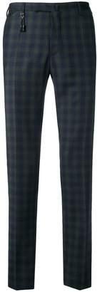 Incotex slim checked trousers