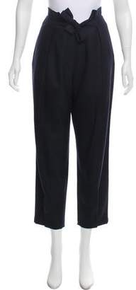Roberta Furlanetto Wool Mid-Rise Pants w/ Tags