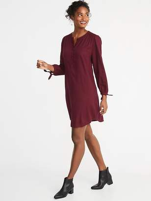 Old Navy Tie-Sleeve Twill Shirt Dress for Women