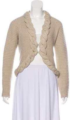 Max Mara Virgin Wool Open Front Cardigan