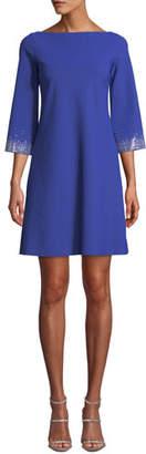 Chiara Boni Embellished-Sleeve Mini Dress