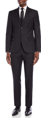 John Varvatos Two-Piece Charcoal Solid Suit