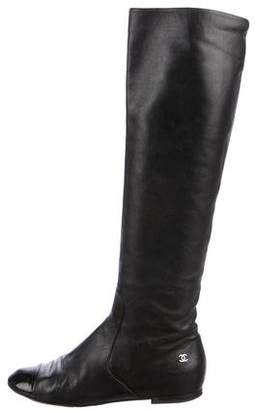 Chanel Cap-Toe Knee-High Boots