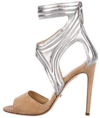Jerome C. Rousseau Leather Metallic Sandals