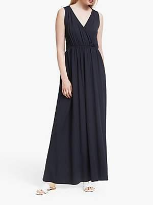 John Lewis & Partners Jersey Wrap Maxi Dress, Navy
