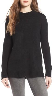 Women's Cotton Emporium Mock Neck Tunic $39 thestylecure.com