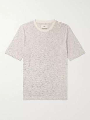 Folk Striped Cotton-Jersey T-Shirt - Men - Ecru