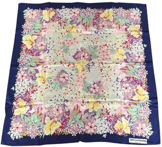 Jean Louis Scherrer Jean-louis Scherrer Blue Silk Silk handkerchief