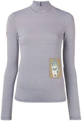 Chloé printed patch houndstooth turtleneck top