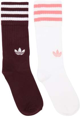 adidas 2 Pairs Of Solid Crew Socks