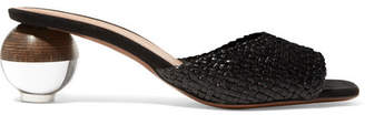 Neous - Opus Woven Leather Mules - Black
