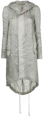 Rick Owens zipped up raincoat