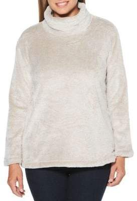 Rafaella Faux Fur Long-Sleeve Sweater