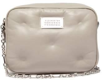Maison Margiela Glam Slam Mini Quilted Leather Cross Body Bag - Womens - Grey