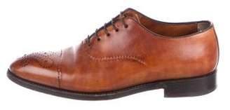 Bontoni Leather Pointed-Toe Brogues