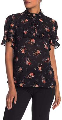 Laundry by Shelli Segal Floral Print Mock Neck Top