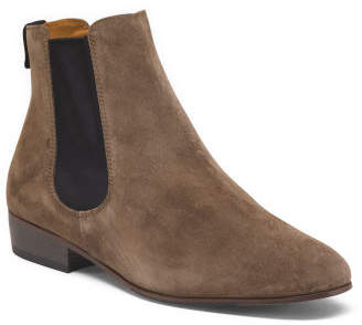 Made In Italy Low Chelsea Suede Booties
