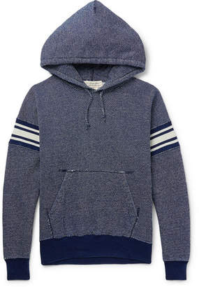 Remi Relief Striped Loopback Cotton Hoodie