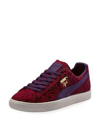 Puma Men's Clyde Paisley Suede Platform Low-Top Sneakers