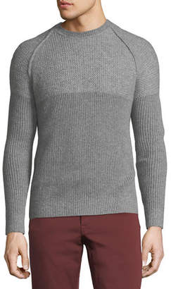 Neiman Marcus English-Rib Cashmere-Silk Sweater
