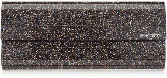 Jimmy Choo SWEETIE Twilight Glitzy Glitter Acrylic Clutch Bag