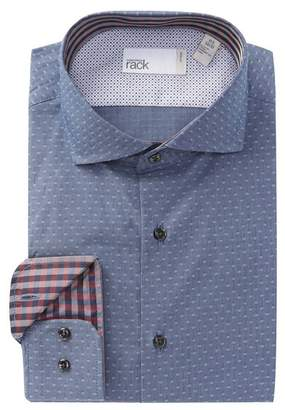 Nordstrom Rack Diamond Dot Trim Fit Dress Shirt