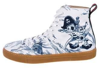 Gucci x Disney 2017 Sea Storm Print High-Top Sneakers