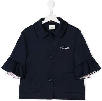 Fendi teen embroidered shirt jacket