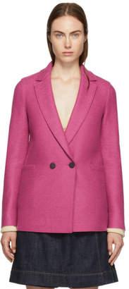 Harris Wharf London Pink Pressed Boxy Blazer Jacket