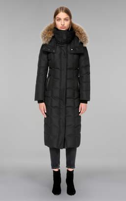 Mackage JADA maxi length winter down coat with sheepskin