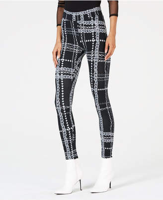 Thalia Sodi Plaid-Print Leggings, Created for Macy's