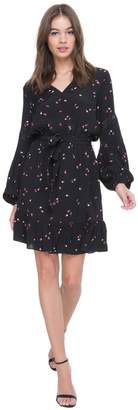 Juicy Couture Rose Print Flirty Dress